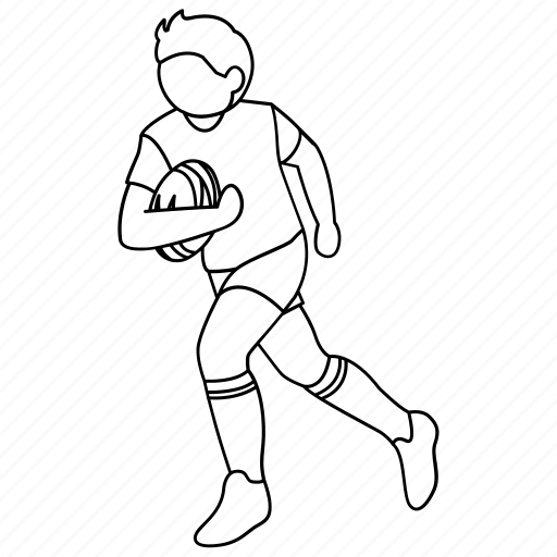 Afl, football, league, player, rugby, touch, union icon