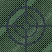bullseye crosshair dartboard