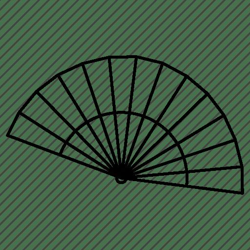 Cooling, fan, hot, manual fan, summer icon