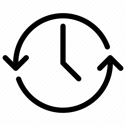 Clock refresh time timer update icon
