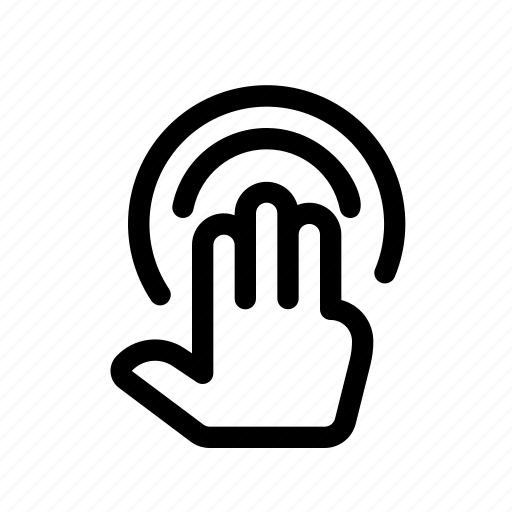 Finger, gesture, hand, hold, press, tap, touch icon
