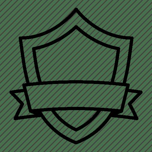 Award, badge, guard, honor, ribbon, shield, team icon