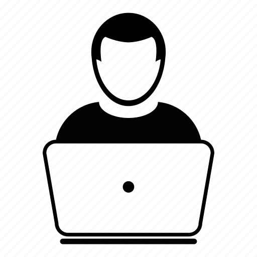 Computer, engineer, laptop, user, working icon