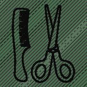 comb hair line outline salon