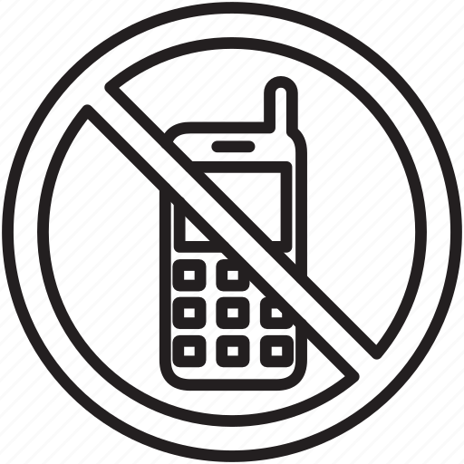 Call, dial, mobile, no, phone, signs, warning icon