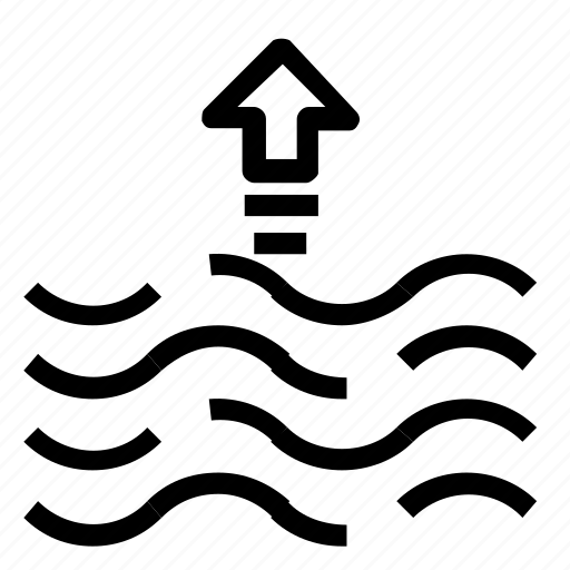 Forecast, rise, tide icon