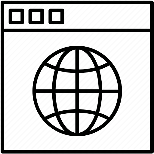 Design, globe, web page, webs, website icon