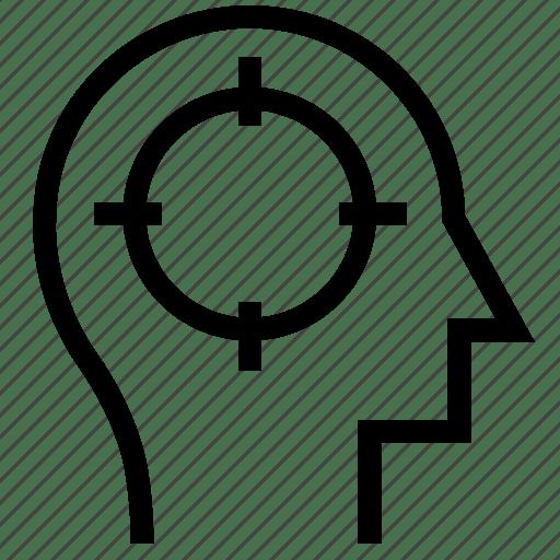 Aim, brain, business, focus, mind, productivity, target
