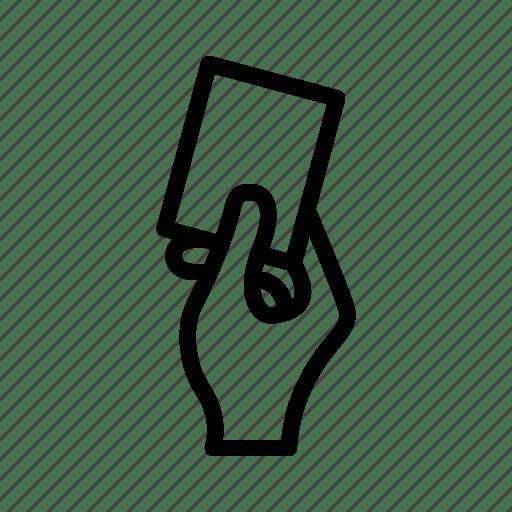 Card, football, referee, soccer, warning icon