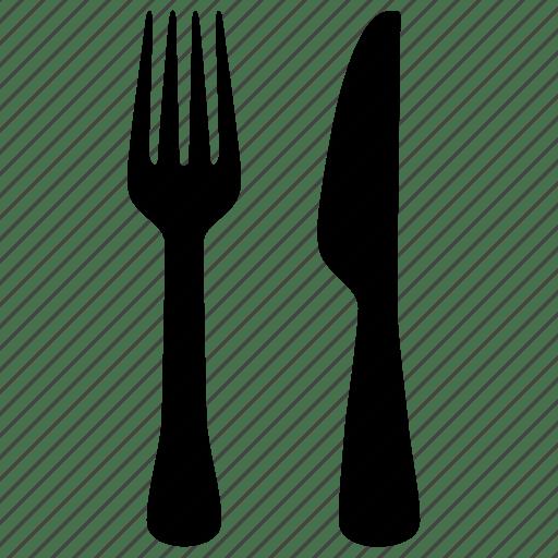 kitchen fork barstools dish knife icon