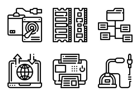 Computer Technology icons by Eucalyp Studio