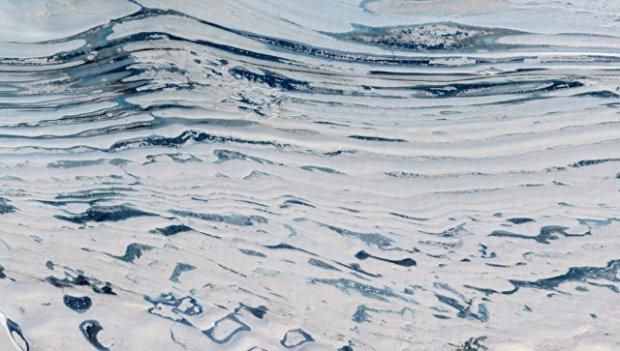 Озера и реки в Антарктиде съемка со спутника НАСА