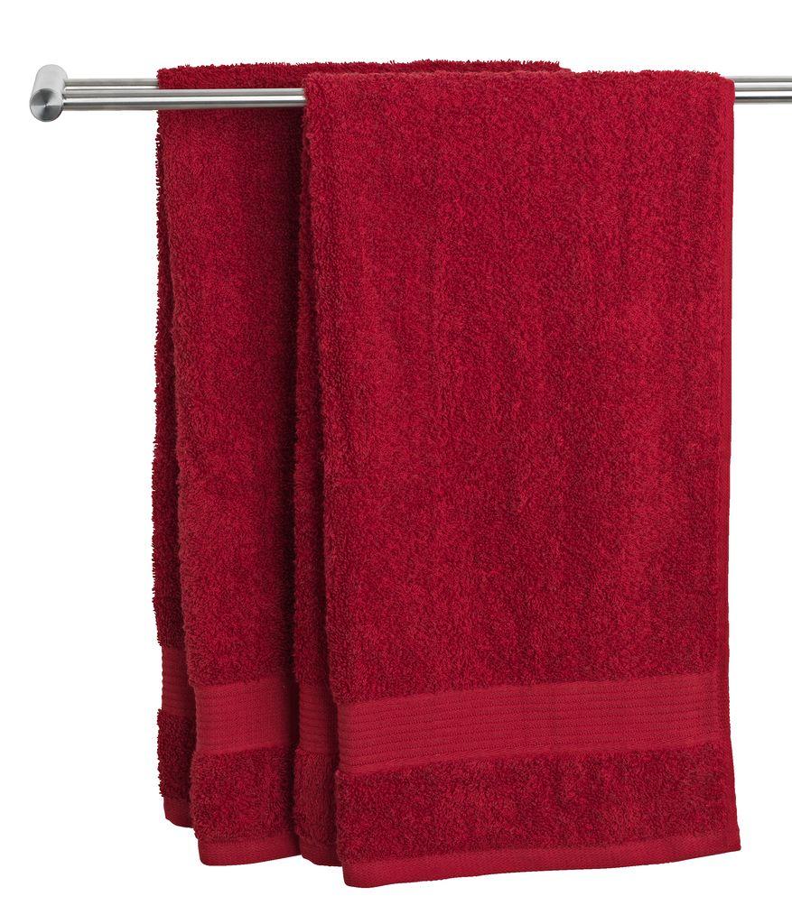 Bath towel KARLSTAD red KRONBORG  JYSK