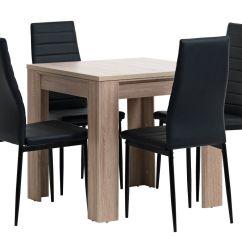 Jysk Dining Room Chair Covers Pottery Barn Kids Bean Bag Hallund L80 Oak 43 4 Toreby Black