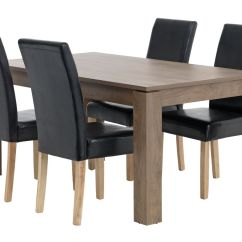 Jysk Dining Room Chair Covers Small Kitchen Tables And Chairs Vedde L160 W Oak 43 4 Tureby Brown