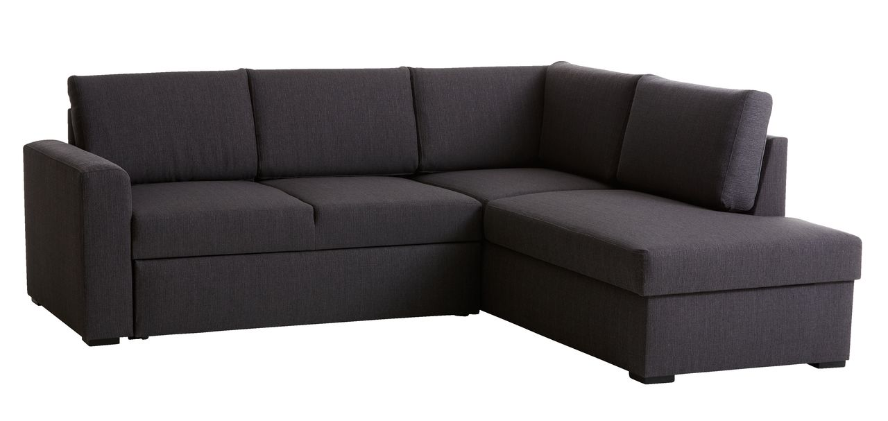 Slaapbank mchaise longue BEDSTED grijs  JYSK