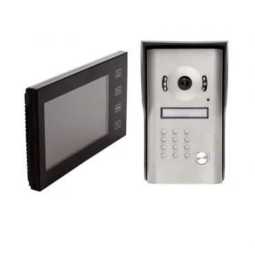 Videocitofono Cablato con Telecamera Nero