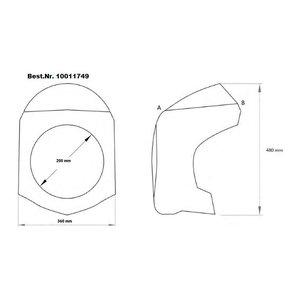 Buy Puig handlebar Fairing with ABE black and tinted