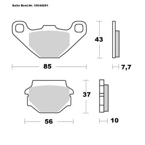 Buy Saito Brake-Pads Organic With ABE Different Models
