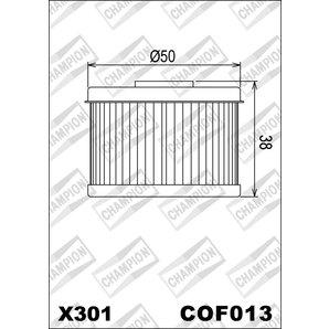 Buy CHAMPION OILFILTER COF013 DIVERSE HONDA/KAWA.(X301