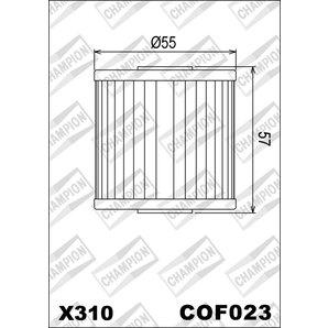 Buy CHAMPION OILFILTER COF023 DIVERSE KAWASAKI (X310