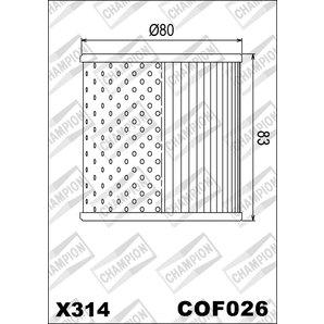 Buy CHAMPION OILFILTER COF026 DIVERSE KAWASAKI (X314