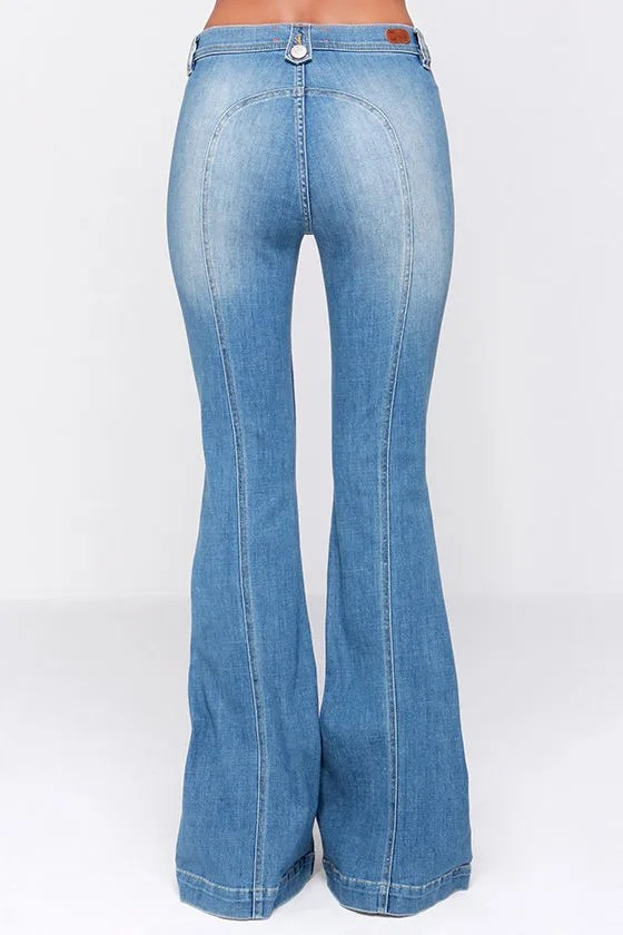 Dittos Amy Jeans Flare Jeans Saddleback Jeans Light Wash Jeans 8900