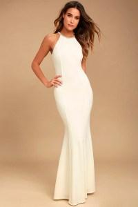 Lovely White Dress - Beaded Dress - Maxi Dress - $78.00