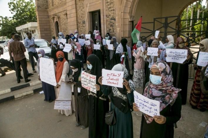مظاهرة في الخرطوم رفضا للتطبيع مع إسرائيل (صور)