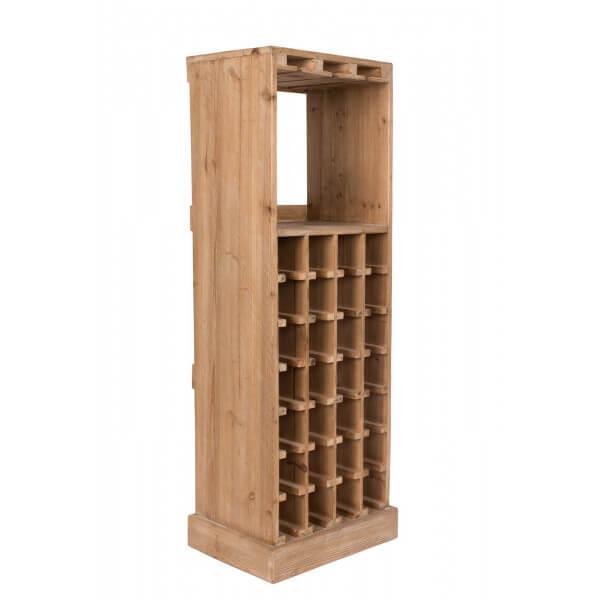 claude rangement bouteilles bois massif