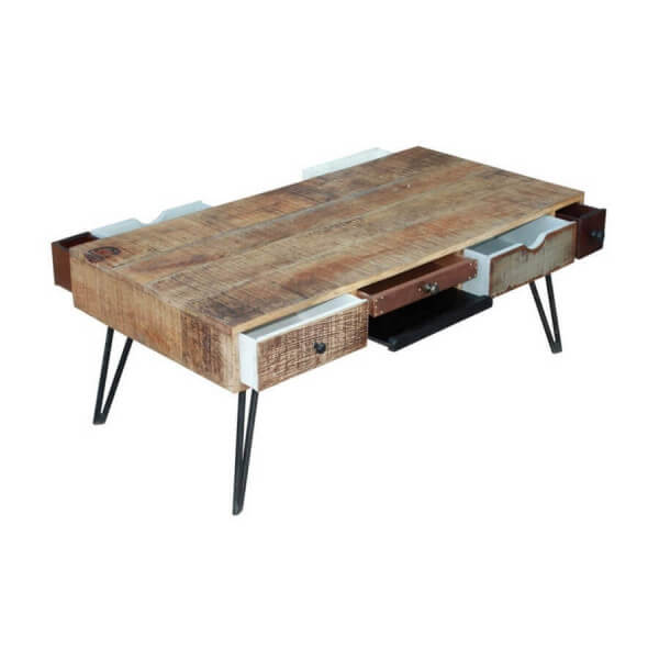table basse vintage bois byron bay