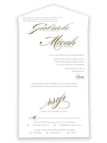 Flourish All-in-One Wedding Invitations by Jennifer