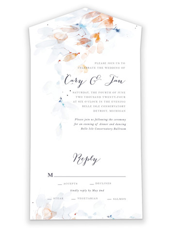 Petale All-in-One Wedding Invitations by Kelly Ventura
