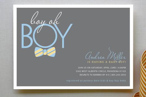 Bow Tie Boy Baby Shower Invitation