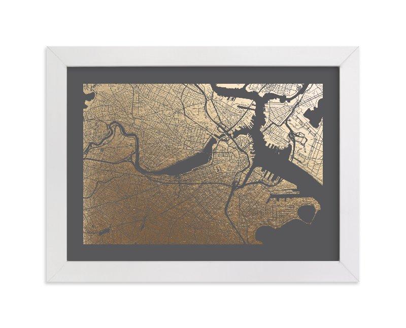 boston map non custom