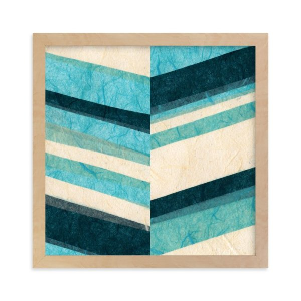 Paper Chevron Wall Art Prints Kelly Nasuta Minted