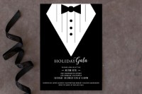 Black Tie Affair Holiday Party Invitations by Cave... | Minted
