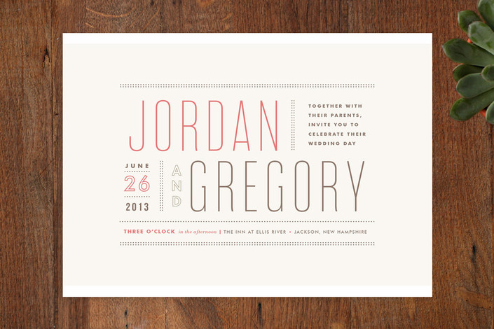 Delicieux Column Rule Wedding Invitations