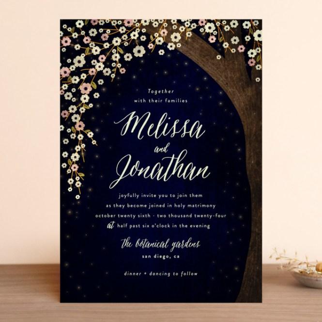 Outside Customizable Wedding Invitations In Blue By Rebecca Bowen