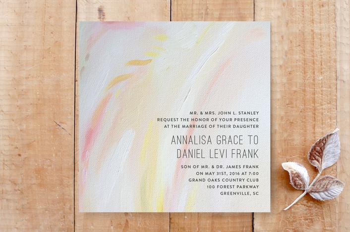 Peach Strokes Modern Wedding Invitations In By Emily Jeffords