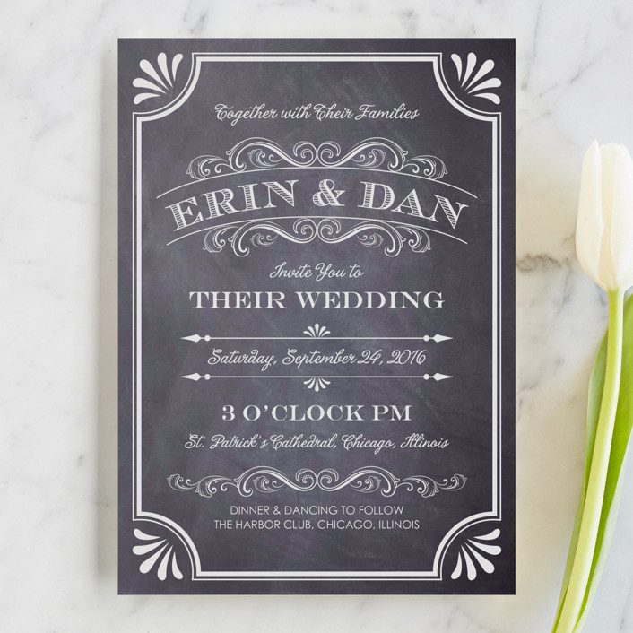 a chalkboard marriage wedding invitations - Wedding Invite Examples