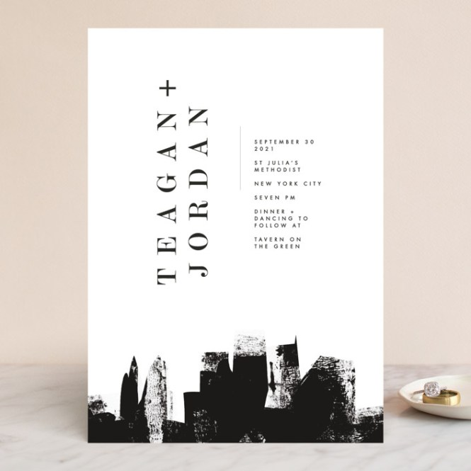 Urban Customizable Wedding Invitations In Black By Lori Wemple