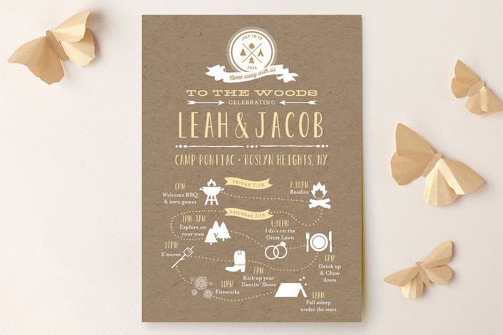 Camp Love Wedding Invitations Design Ideas