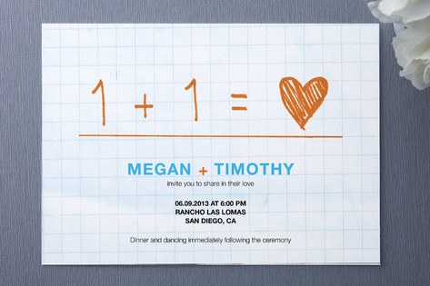 Equation Wedding Invitations