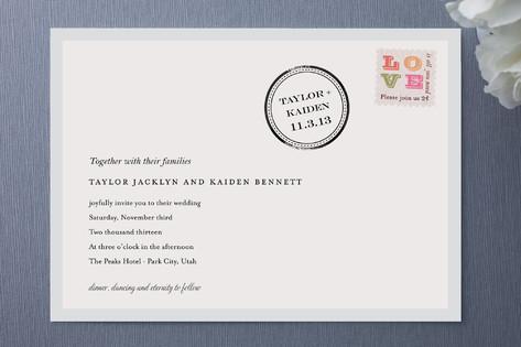 Post Mod Wedding Invitations