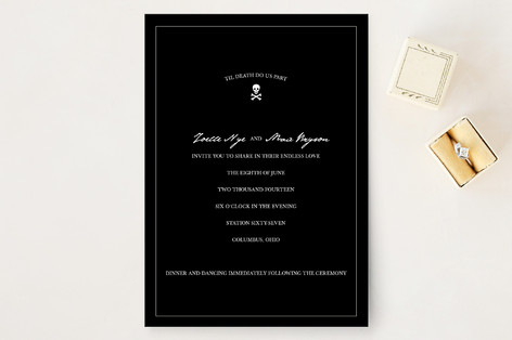 Til Death Do Us Part Wedding Invitations