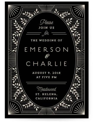Wedding Invitations Art Deco 9