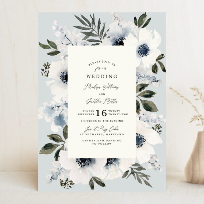 Nantucket Romance Customizable Wedding Invitations In Blue By Chris Griffith