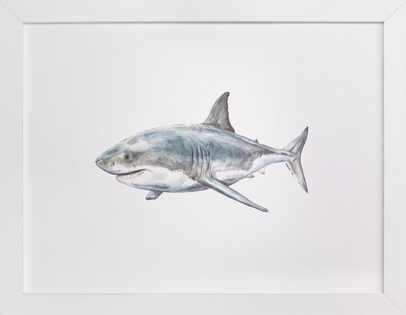 Shark in Smiling Waters Wall Art Prints by Lauren Rogoff