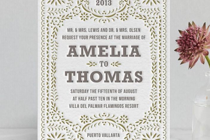 1x1 Trans Nina Johns Diy Letterpress Wedding Invitations